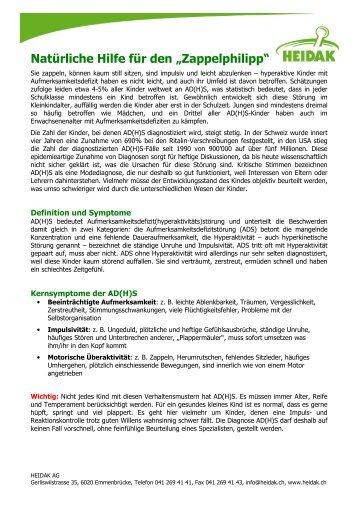"""Natürliche Hilfe für den """"Zappelphilipp"""" - Heidak AG"""
