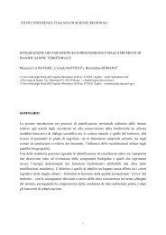 Integrazione dei parametri eco-biogeografici negli ... - Planeco