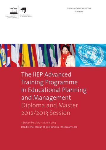 The IIEP Advanced Training Programme in ... - IIEP - Unesco