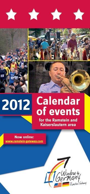 Calendar 2012 of events - Ramstein Gateway