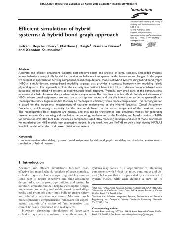 Efficient simulation of hybrid systems: A hybrid bond ... - ResearchGate