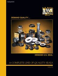 A COMPLETE LINE OF QUALITY SEALS - U.S. Seal Mfg.