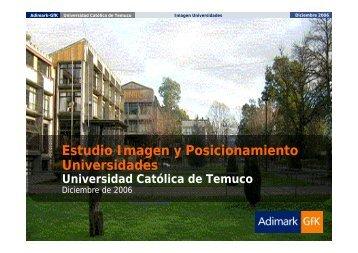 Estudio de Imagen y Posicionamiento - Universidad Católica de ...