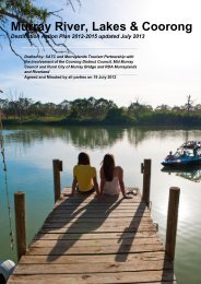 Murraylands Destination Action Plan - South Australian Tourism ...