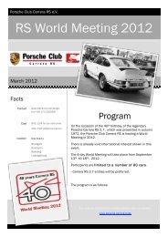 RS World Meeting 2012 - Porsche Club Carrera RS eV