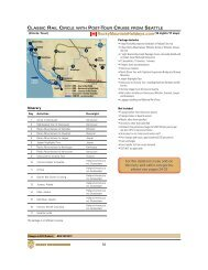 Classic Rail Circle with Cruise from Seattle - Rocky Mountain Holidays