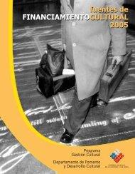 Fuentes de financiamiento cultural 2005 - Consejo Nacional de la ...