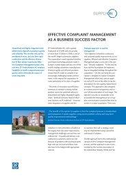 Complaint Management at ZF - SupplyOn