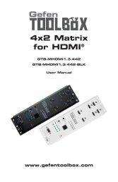 GefenToolBox 4x2 Matrix for HDMI - Techorium