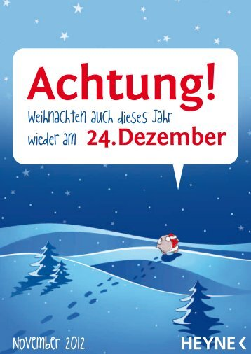 24. Dezember Bestellschein November 2012 - Verlagsgruppe ...