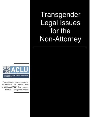 Transgender Legal Issues for the Non-Attorney - Arcus Foundation