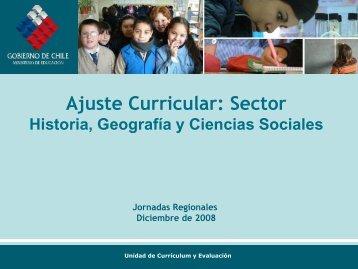 Presentación Ajuste Historia, Geografía y Ciencias Sociales ... - LEM