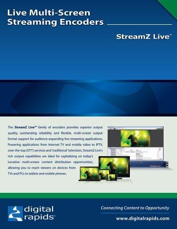 Live Multi-Screen Streaming Encoders - Video Media Solutions