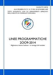 Linee programmatiche 2009-2013 - Comune di Sedriano