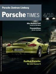 Radikal Porsche. Der neue Cayman R. After-Business-Treff.