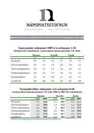 Fyrstu niðurstöður árið 2009