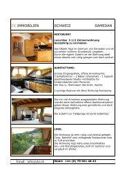 CK IMMOBILIEN SCHWEIZ SAMEDAN Email: info@cki.ch