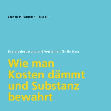 Bauherren-Ratgeber Fassade - StoTherm Classic