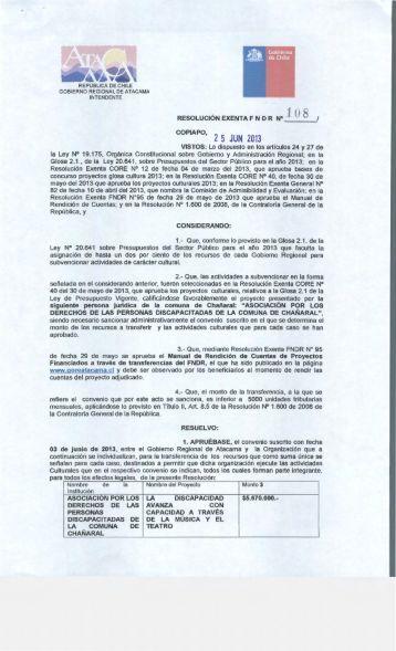 COPIAPO, 2 5 JUN 2013 - Gobierno Regional de Atacama