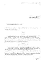 Appendice legislativa. - Precedente versione del sito