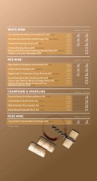 RED WINE CHAMPAGNE & SPARKLING WHITE ... - Cafe Deco Group