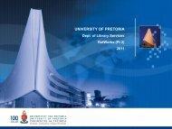 2011 March 6 RefWor.. - Library - University of Pretoria
