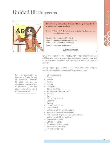 Unidad III: Proyectos - Gobierno Regional de Atacama