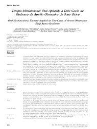 Terapia Miofuncional Oral Aplicada a Dois Casos de