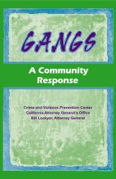 Gangs: A Community Response - Network Of Care