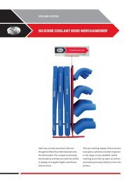Heavy Duty Silicone Coolant Hose Merchandiser Flyer