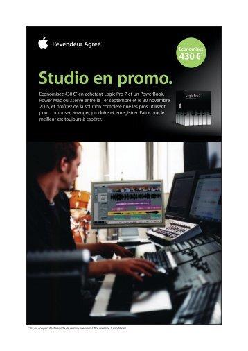 Studio en promo. - Univers-sons.com
