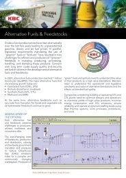 Alternative Fuels & Feedstocks - KBC Advanced Technologies plc