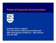 Power of Corporate Communication - International Association of ...