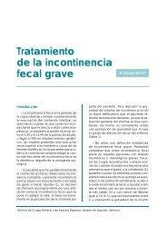Tratamiento de la incontinencia fecal grave