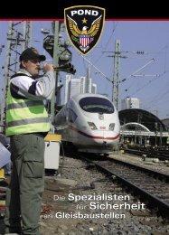 für Sicherheit für Sicherheit - Pond Security Bahn Service GmbH