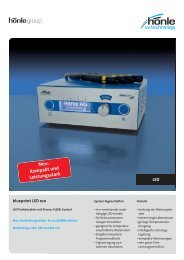 Produktinformation bluepoint LED eco - Dr. Hönle AG