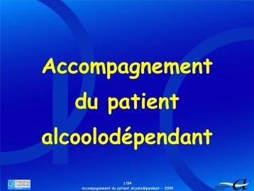 Accompagnement du patient alcoolodépendant - SFA