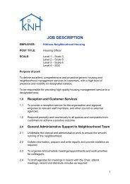 DRAFT HOUSING OFFICER JOB DESCRIPTION - Kirklees Council
