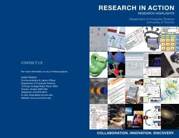 Research in Action 2008 - University of Toronto