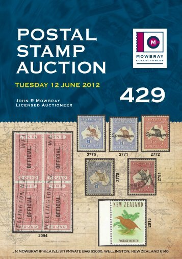 JRM Auction System - Postal Catalogue - Mowbray Collectables