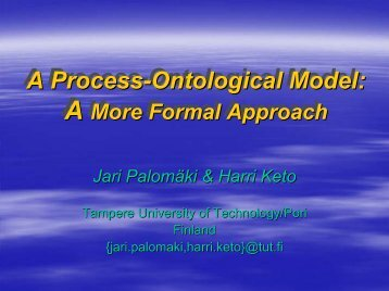 A Process-Ontological Model