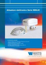 Attuatore elettronico Serie EMUJC - Watts Industries