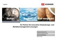 Kartonagen - Schenker Deutschland AG - DB Schenker