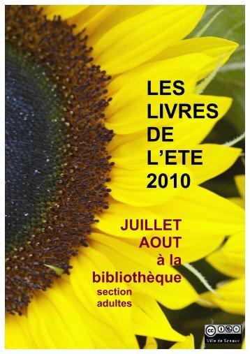 LES LIVRES DE L'ETE 2010 - Bibliothèque municiaple de Sceaux