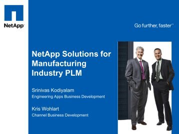 NetApp Solutions for Manufacturing Industry PLM - Tata Technologies