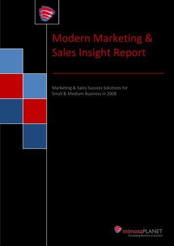Modern Marketing & Sales Insight Report - mimosaPLANET