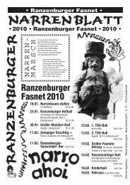 """Hotel """"Peterhof"""" Gasthaus """"Rose"""" - Ranzenburger Narrenzunft e.V."""