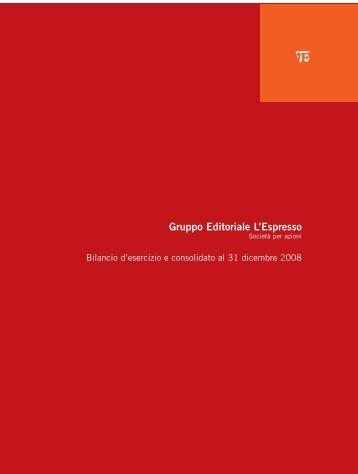 Bilancio al 31-12-2008 PDF File (2238Kb) - Gruppo Editoriale L ...