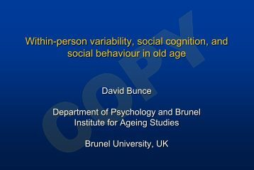 Within-person variability, social cognition, and social behaviour in ...