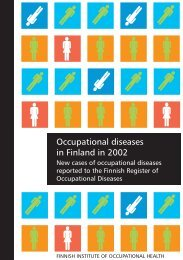 Occupational diseases in Finland in 2002 - Työterveyslaitos
